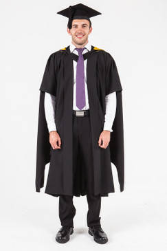 UON Masters Graduation Gown Set - Visual Arts, Design and Comms - Front view