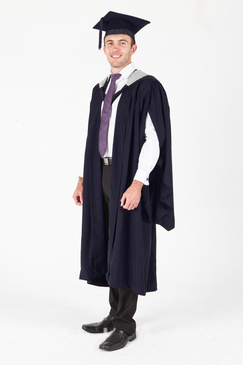 Deakin University Masters Graduation Gown Set - Law - Front view