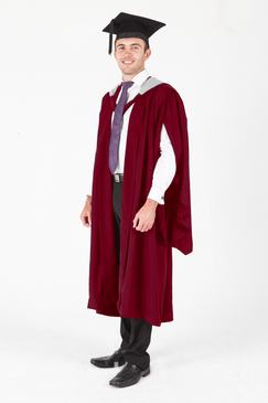 Murdoch University Masters Graduation Gown Set - Psychology and Exercise Science - Front view