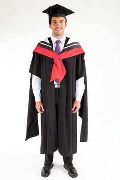Masters Graduation Gown Set for UTS - Engineering - Front view