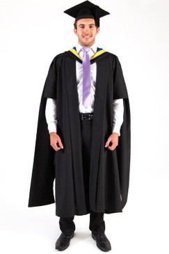UniSA Masters Graduation Gown Set - Standard Masters - Front view