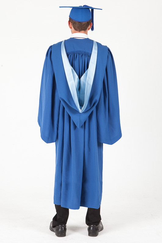 Bachelor Graduation Gown Set for UOW - Standard - Back view