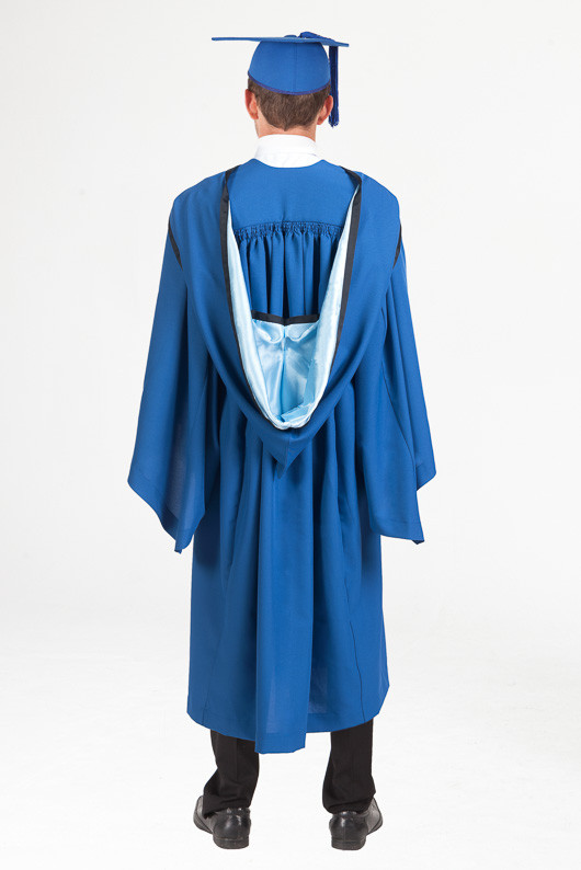 Honours Graduation Gown Set for UOW - Standard - Back view