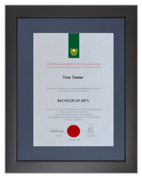 Degree Certificate Frame for Curtin University