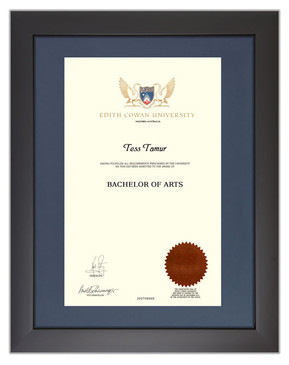 Degree Certificate Frame for ECU
