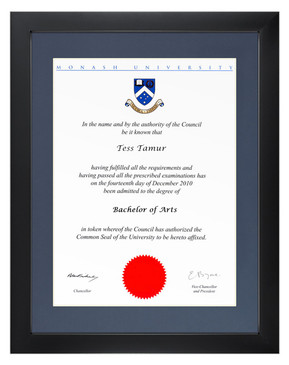 Degree Certificate Frame for Monash University