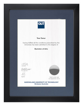 Degree Certificate Frame for QUT