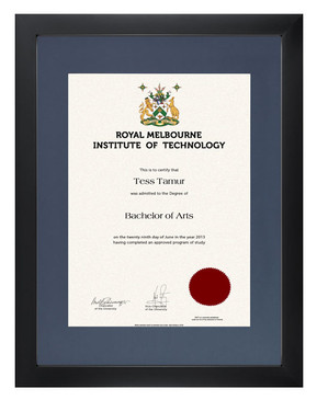 Degree Certificate Frame for RMIT