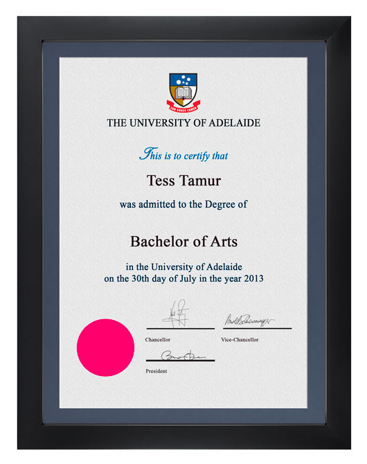 Degree Certificate Frame For University Of Adelaide Gowntown