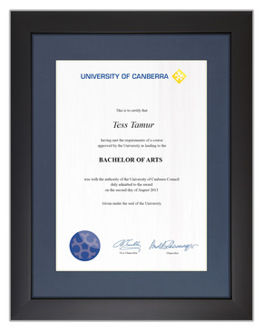 Degree Certificate Frame for University of Canberra