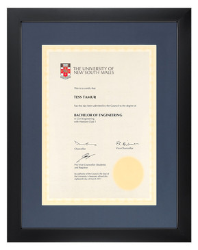 Degree Certificate Frame for UNSW