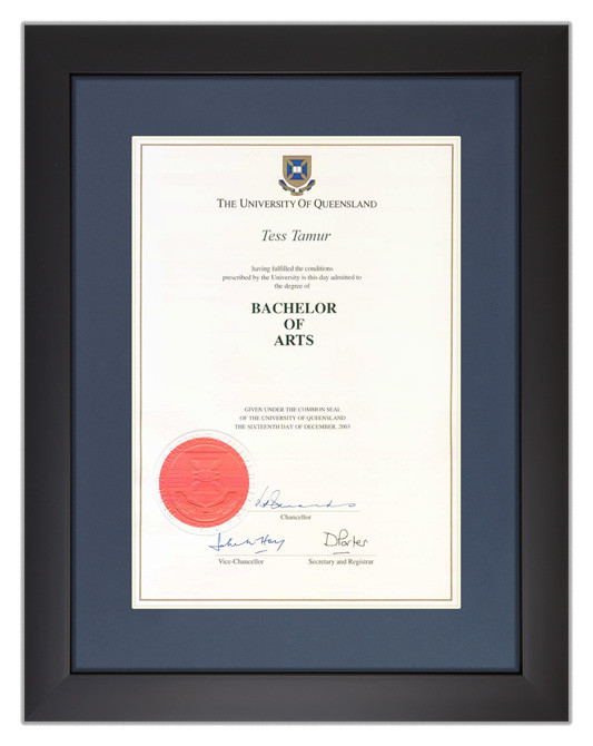 Degree Certificate Frame For Uq Gowntown