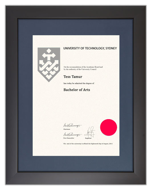Degree Certificate Frame For Uts Gowntown