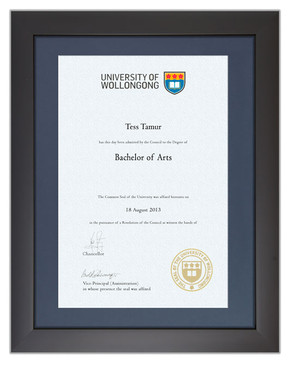 Degree Certificate Frame for UOW
