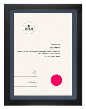Degree Certificate Frame for Deakin University