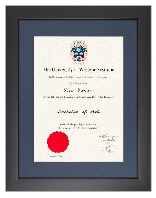 Degree Certificate Frame For University Of Western