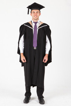 UNE Bachelor Graduation Gown Set - Arts - Front view