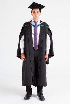 UNE Bachelor Graduation Gown Set - Business, Commerce and Economics - Front view