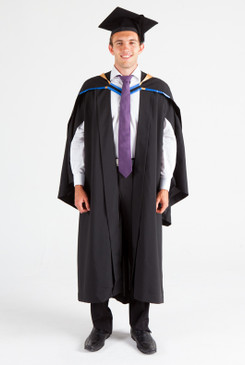 UNE Bachelor Graduation Gown Set - Law - Front view
