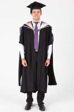 UNE Masters Graduation Gown Set - Education and Teaching - Front view