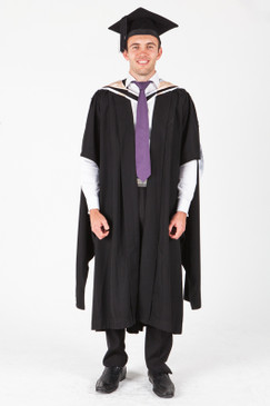 UNE Masters Graduation Gown Set - Arts - Front view