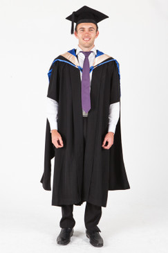 UNE Masters Graduation Gown Set - Law - Front view