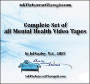 AskTheInternetTherapist.com Mental Health Educational Video Tape Set - 7 videos (VHS)