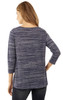 Space Dye Knit Top with Knot In Navy