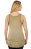 Vintage Wash Tank Top In Soft Moss