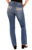 Curvy Embellished Bootcut Jeans In Rosemary