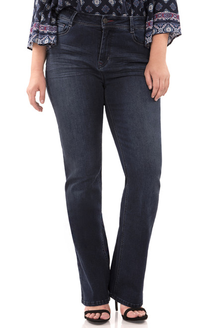 Plus Size Classic Bootcut Jeans In Emma