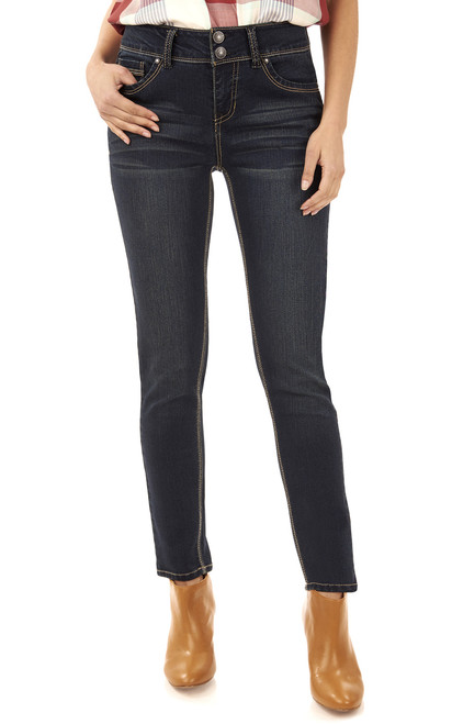 Curvy Embroidered Skinny Jeans In Victoria