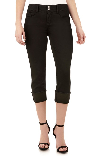 Curvy Embellished Cropped Jeans In Onyx