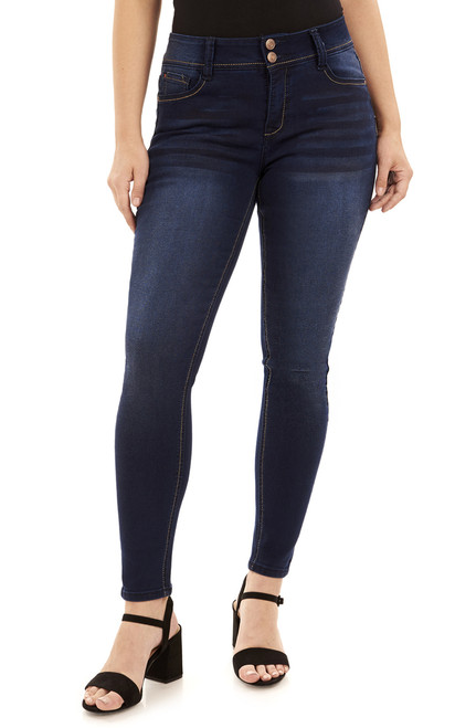 Basic Curvy Skinny Jeans In Midnight