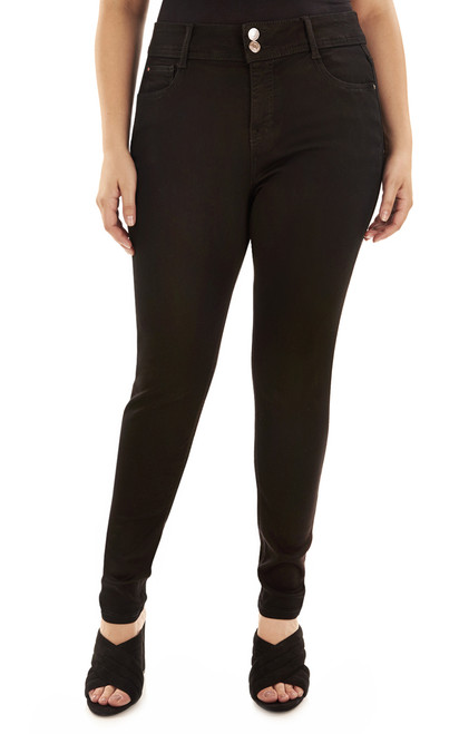 Plus Size Basic Curvy Skinny Jeans In Onyx