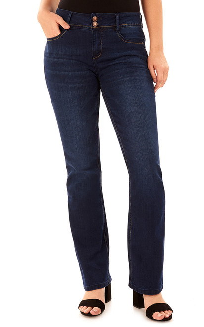 Basic Curvy Bootcut Jeans In Midnight