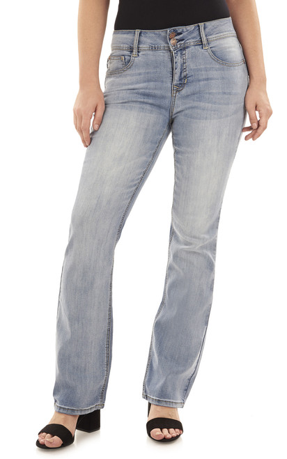 Basic Curvy Bootcut Jeans In Atlantic