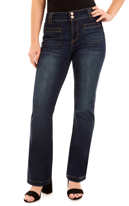 High-Rise Curvy Bootcut Jeans In Cypress