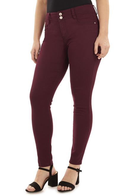 Curvy Skinny Jeans In Wine