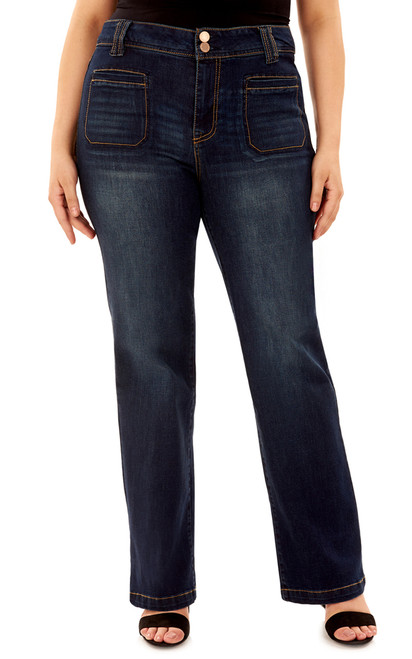 Plus Size High-Rise Curvy Bootcut Jeans In Cypress