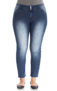 Plus Size Long Inseam Skinny Jeans In Uma