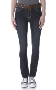 Belted Skinny Jeans In Agnes