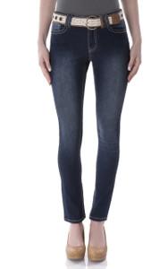 Basic Belted Skinny Jeans In Brenda