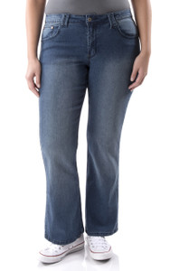 Plus Size Classic Bootcut Jeans In Kate