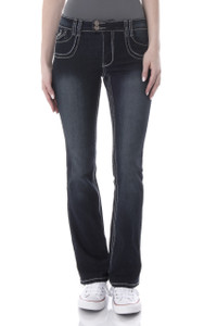 Chop Pocket Bootcut Jeans In Agnes