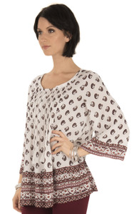Long Sleeve Woven In Antique White