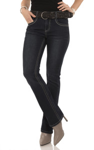 Belted Bootcut Jeans In Victoria