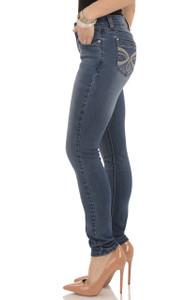 Embellished Skinny Jeans In Olivia