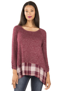 Plaid Tunic In Vintage Ruby