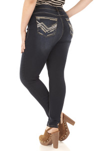Plus Size Embellished Skinny Jeans In Adriana